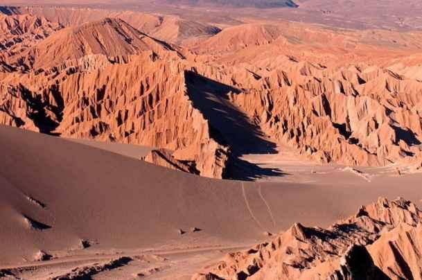 世界上降水量最少的地方:南美洲西海岸阿塔卡马沙漠,被称为世界干极